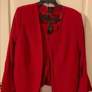New Red 2Piece Pantsuit XL Jacket and Pants 14